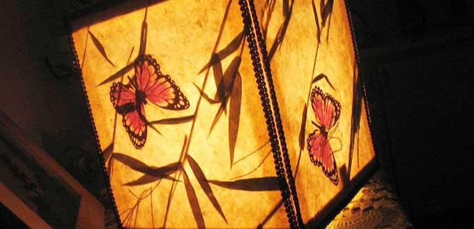 Lampada Bambù