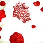 Fantasia Corallis Rosso Tessuto Cotone 100%