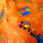 Fantasia rancio per bambini Tessuto Cotone 100%