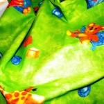 Fantasia Verde per bambini Tessuto Cotone 100%